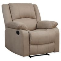 Palazzo Reclining Chair in Beige Microfiber