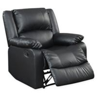 Palazzo Reclining Chair in Black Faux Leather