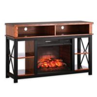 Southern Enterprises Edwards Infrared Fireplace TV Stand in Sienna