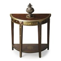 Butler Specialty Company Ranthor Demilune Console Table in Dark Brown