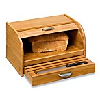 Honey-Can-Do® Rolltop Bamboo Bread Box