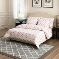 Brielle Circlets Full/Queen Duvet Cover Set in Red