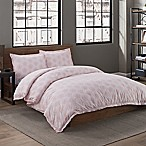 Garment Washed Dot Printed Full/Queen Duvet Cover Set in Blush