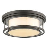 Filament Design Leia Coastal 4-Light Mounted Ceiling Light in Bronze