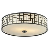 Filament Design Lea 3-Light Transitional Mounted Ceiling Light in Bronze