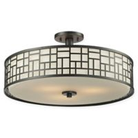 Filament Design Lea 3-Light Transitional Ceiling Light in Bronze