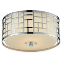 Filament Design Lea Transitional 2-Light Mounted Ceiling Light in Chrome
