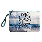 "Morgan Home ""Eat Beach Sleep"" Water-Resistant Canvas Swimsuit Sack"