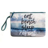 "Morgan Home ""Eat Beach Sleep"" Water-Resistant Canvas Swimsuit Sack"