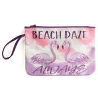 "Morgan Home ""Beach Daze Always"" Water-Resistant Canvas Swimsuit Sack"