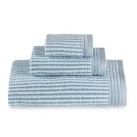 The Royal Company Fashion Value Roma Ombre Fingertip Towel in Aqua