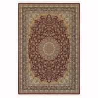Oriental Weavers Masterpiece Large Medallion 5'3 x 7'6 Area Rug in Red