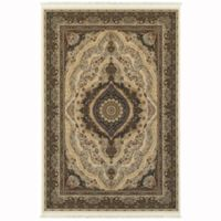 Oriental Weavers Masterpiece Center Medallion 3'10 x 5'5 Area Rug in Ivory