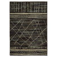 Oriental Weavers Nomad Abstract Lines 5'3 x 7'6 Area Rug in Black