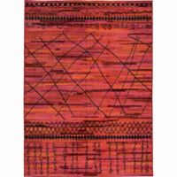 Oriental Weavers Nomad Abstract Lines 6'7 x 9'1 Area Rug in Orange