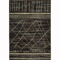 Oriental Weavers Nomad Abstract Lines 6'7 x 9'1 Area Rug in Black