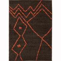 Oriental Weavers Nomad Abstract 4' x 5'9 Area Rug in Brown