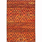 Oriental Weavers Nomad Tribal Abstract 4' x 5'9 Area Rug in Orange