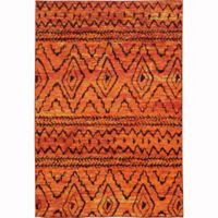 Oriental Weavers Nomad Tribal Abstract 7'10 x 10'10 Area Rug in Orange