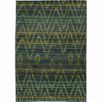 Oriental Weavers Nomad Abstract 6'7 x 9'1 Area Rug in Green
