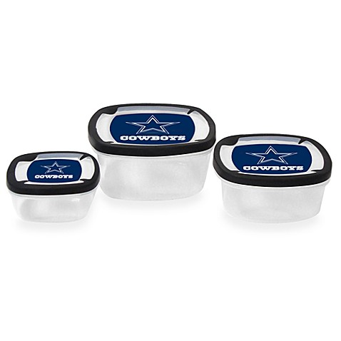Nfl Dallas Cowboys Nesting Food Storage Containers Set Of