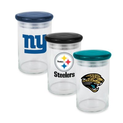 NFL Pittsburgh Steelers Logo Glass Candy Jar Bed Bath Beyond