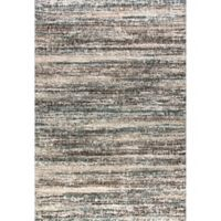 Dynamic Rugs Mehari Frequency 6'7 x 9'6 Area Rug in Black/White