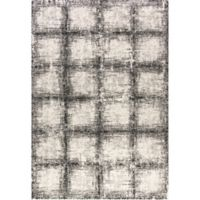 Dynamic Rugs Mehari Urban Glass 2' x 3' Accent Rug in Black/White