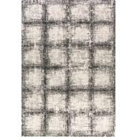 Dynamic Rugs Mehari Urban Glass 7'10 x 11'2 Area Rug in Black/White
