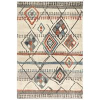Dynamic Rugs Mehari Nomad 2' x 3'11 Accent Rug in Ivory/Multicolor