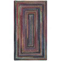 Capel Rugs High Rock Braided 1'8 x 2'6 Area Rug in Blue