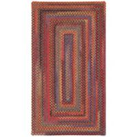 Capel Rugs High Rock Braided 1'8 x 2'6 Area Rug in Red