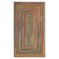 Capel Rugs High Rock Braided 5' x 8' Area Rug in Gold