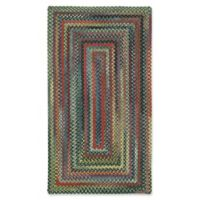 Capel Rugs High Rock Braided 5' x 8' Area Rug in Green