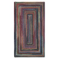 Capel Rugs High Rock Braided 5' x 8' Area Rug in Blue