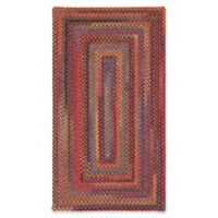 Capel Rugs High Rock Braided 5' x 8' Area Rug in Red