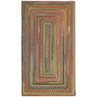 Capel Rugs High Rock Braided 7' x 9' Area Rug in Gold