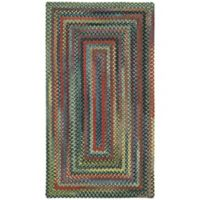 Capel Rugs High Rock Braided 7' x 9' Area Rug in Green