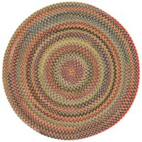 Capel Rugs High Rock Braided 8'6 Round Area Rug in Gold