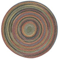 Capel Rugs High Rock Braided 8'6 Round Area Rug in Green