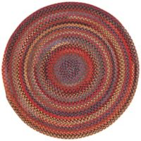 Capel Rugs High Rock Braided 8'6 Round Area Rug in Red
