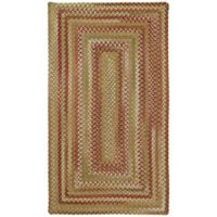 """Capel Rugs Manchester Braided 20"""" x 30"""" Accent Rug in Red/Beige"""