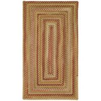 Capel Rugs Manchester Braided 2' x 3' Accent Rug in Gold/Red