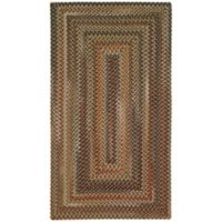 Capel Rugs Manchester Braided 2' x 3' Accent Rug in Brown