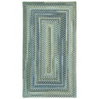 Capel Rugs Manchester Braided 2'3 x 4' Accent Rug in Light Blue