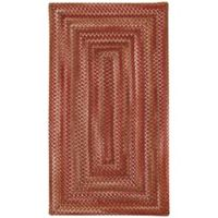 Capel Rugs Manchester Braided 2'3 x 4' Accent Rug in Redwood