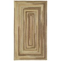 Capel Rugs Manchester Braided 4' x 6' Area Rug in Tan