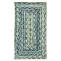 Capel Rugs Manchester Braided 5' x 8' Area Rug in Light Blue