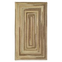 Capel Rugs Manchester Braided 5' x 8' Area Rug in Tan