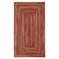 Capel Rugs Manchester Braided 5' x 8' Area Rug in Redwood